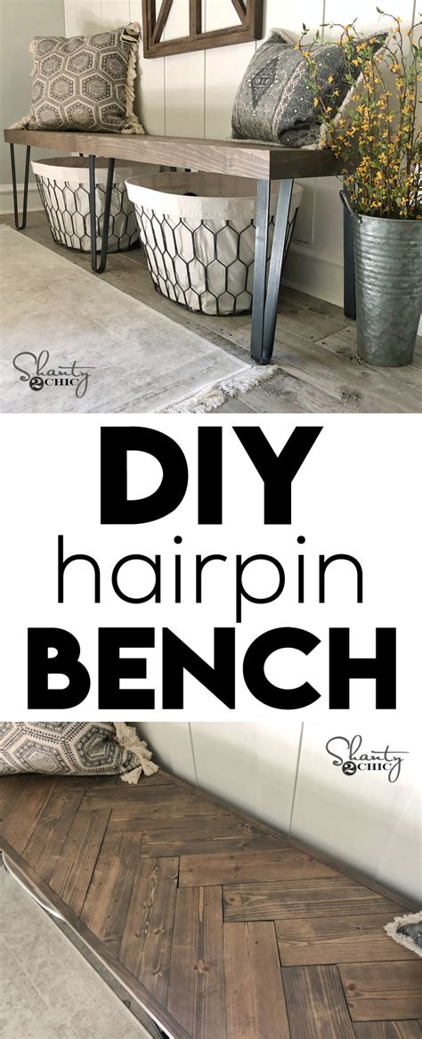 diy beefy hairpin bench shanty  chic