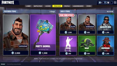 fortnite  decided  visit  items shop