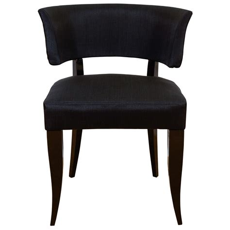 made to order upholstered lacquered klismos chair in the