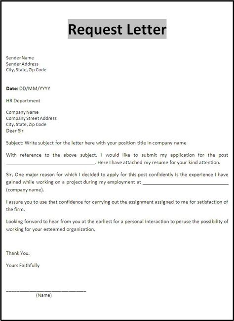 letter templates free printable sle ms word templates resume forms letters and formats