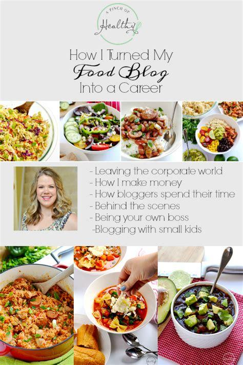 turned  food blog   career  pinch  healthy