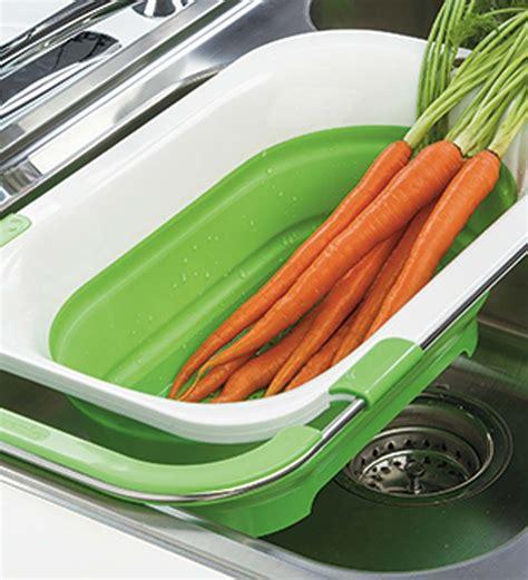 collapsible  sink colander kitchen gadgets sink