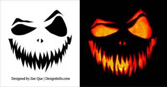 Scared Pumpkin Face Template 20 free scary halloween pumpkin carving stencils faces
