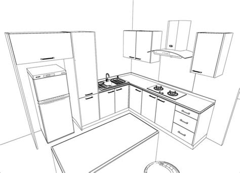 kitchen cabinets drawing  getdrawings