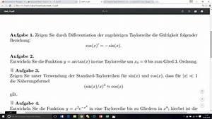 Taylorreihe Berechnen : taylorreihe taylorreihen aufgabe 3 n herungsformel zeigen sin x x 3 sin x mathelounge ~ Themetempest.com Abrechnung