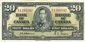 Value of 2nd Jan. 1937 $20 Bill from The Bank of Canada ...