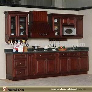 Sólido de madera antiguos gabinetes de cocina-Cocinas