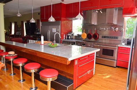 Red Kitchen Design Ideas, Pictures And Inspiration. Yellow River Granite Kitchen Pictures. Kitchen Granite Photo Gallery. Dream Kitchen Units. Kitchen Colors Cherry Cabinets. Kitchen Tools Needed. Kitchen Cart Organization Ideas. Green Kitchen Unit Paint. Desk Turned Into Kitchen Island