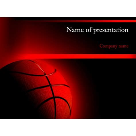 basketball template basketball powerpoint template background for presentation free