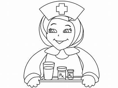 Coloring Nurse Colorear Dibujos Enfermera Doctor Nurses