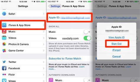 how to reset apple id on iphone how to change the apple id on iphone ipod touch