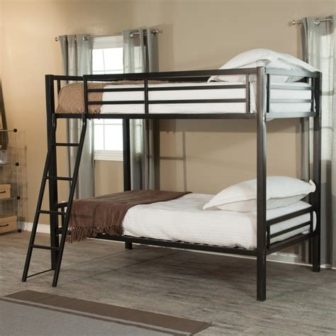 Bunk Bed by Bedroom Decor With Black High Gloss Finish Wooden