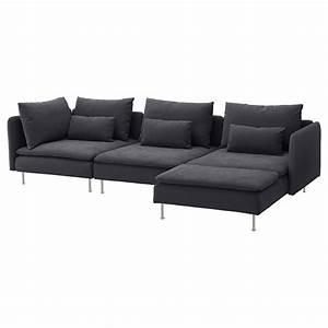söderhamn 4 seat sofa with chaise longue samsta grey