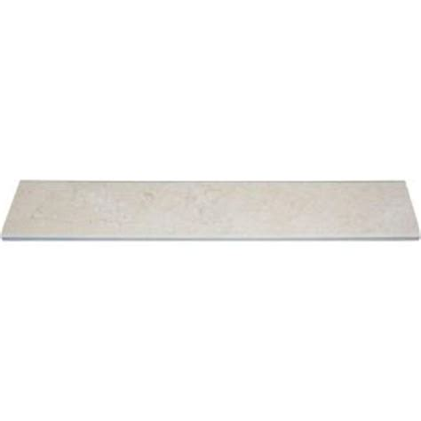 home depot flooring threshold ms international botticino amber double bevelled 4 in x 24 in marble threshold floor and wall