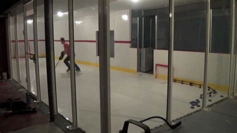 1 Bedroom Basement by Ultimate Hockey Room With Hyper Glide Synthetic Ice Youtube