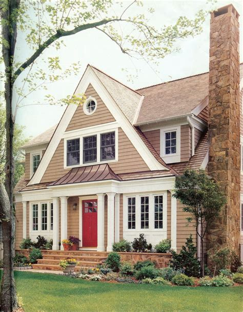 the copper roof wide trim siding and paint color exterior ideas for house