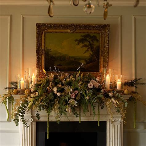 fireplace garlands 36 ways to decorate the fireplace mantel hello