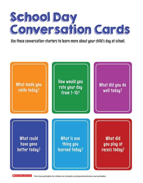 fun conversation cards    child talking