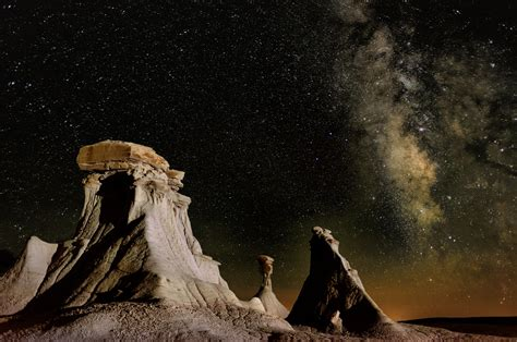 Nature Landscape Mountains New Mexico Usa Night