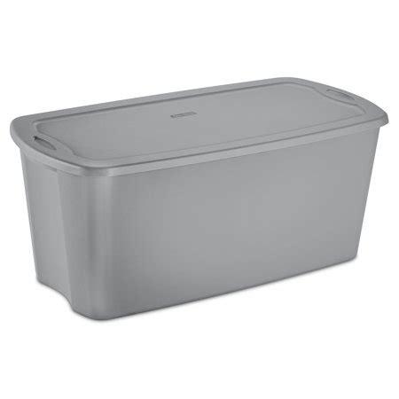 sterilite  gal  tote box titanium walmartcom