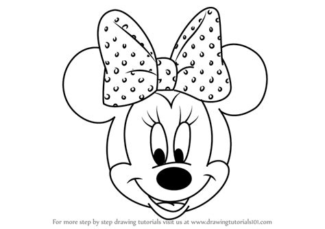 step  step   draw minnie mouse face  mickey