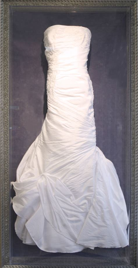 preserve your wedding dress in a custom framed shadowbox way to showcase a gorgeous