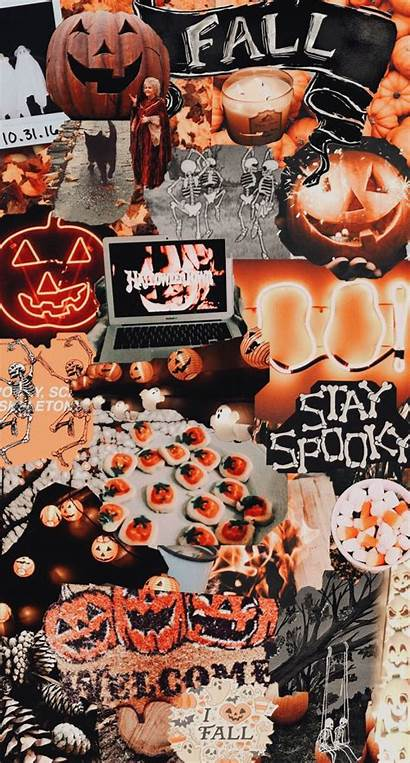 Halloween Fall Aesthetic Vsco Collage Wallpapers Backgrounds