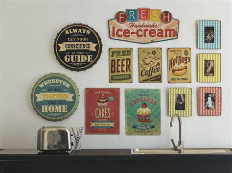 plaque deco cuisine retro comment décorer mur décoration