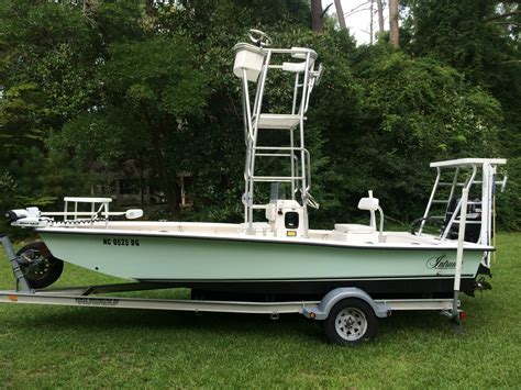 Skiff With Tower by 2007 Intruder 198 Custom Flats Tower Boat By Promarine