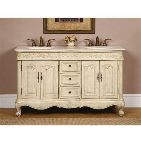 white double sink vanity 58 inch double sink bathroom vanity in antique white