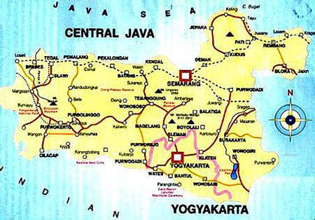 indonesia map central java
