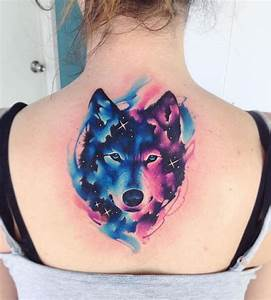 Watercolor Wolf Tattoo - InkStyleMag