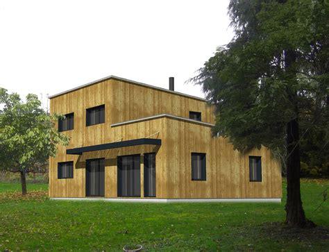 maison 224 ossature bois cubique toit plat nos projets