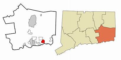 Connecticut Mystic Svg Incorporated Unincorporated Highlighted Areas