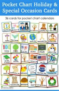 pocket chart and special occasion calendar cards