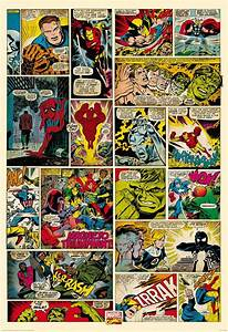 1Wall Marvel Comic Strip Wall Mural