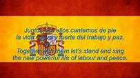 Spain National Anthem English lyrics - YouTube