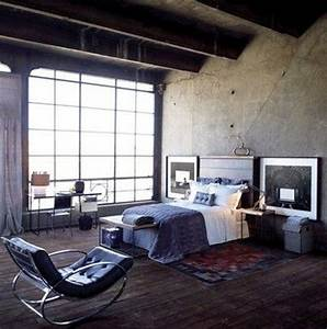 15 bold industrial bedroom design ideas rilane for Brilliant industrial interior design ideas