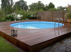 Piscines Semi Enterrées : pourquoi pr f rer la piscine semi enterr e pour votre jardin ~ Zukunftsfamilie.com Idées de Décoration
