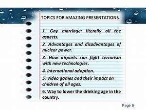 interesting topics for presentation in office