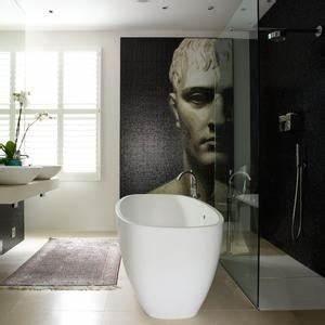 Wandbilder Für Badezimmer : moderne b der mit freistehender badewanne ~ Frokenaadalensverden.com Haus und Dekorationen