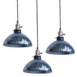 pendant lighting ideas green blue glass pendant