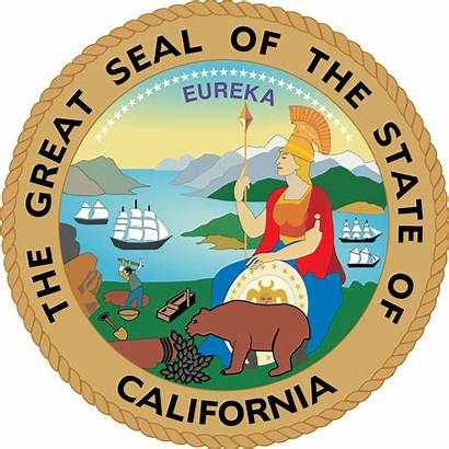 Seal California Government Agencies State Official Re