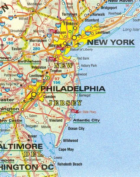 Carte Routière New Jersey