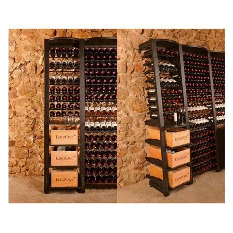 rangement cave a vin modulosteel rangement contemporain de cave 224 vin modulable en acier eurocave