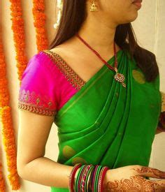 silk saree blouse designs images   silk