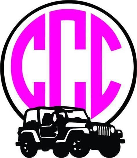 jeep  monogram frame vinyl projects pinterest