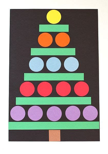 how to shape a christmas tree crafts for paper shape tree tree crafts paper punch and motor skills
