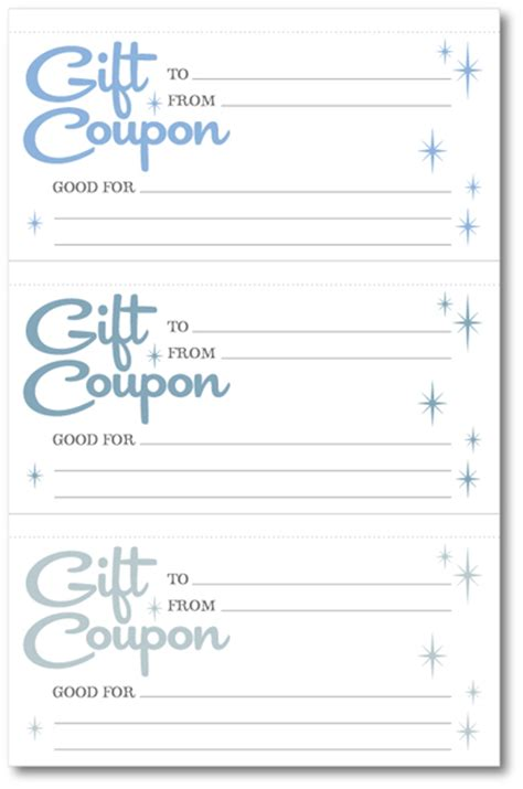 Coupon Templates Printable Free by Early Play Templates Free Gift Coupon Templates To Print Out