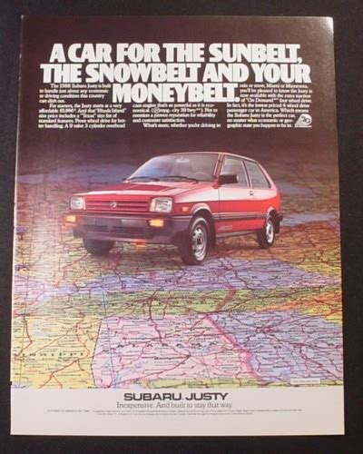 books about how cars work 1991 subaru justy regenerative braking magazine ad for subaru justy car car on road map 1988 magazines ads and books store